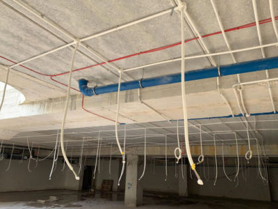 Installation of electrical lighting