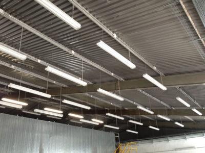 Warehouse lighting installation