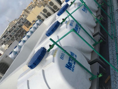 Installation and assembly of water tanks including PPR's and fittings