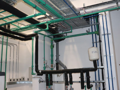 Installation of a plant room