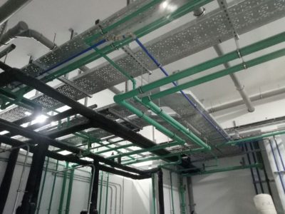 Plant room plumbing installation works